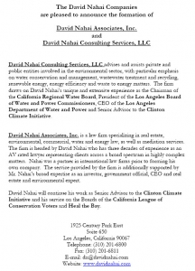 David Nahai, formerly of LADWP, launches Consulting service