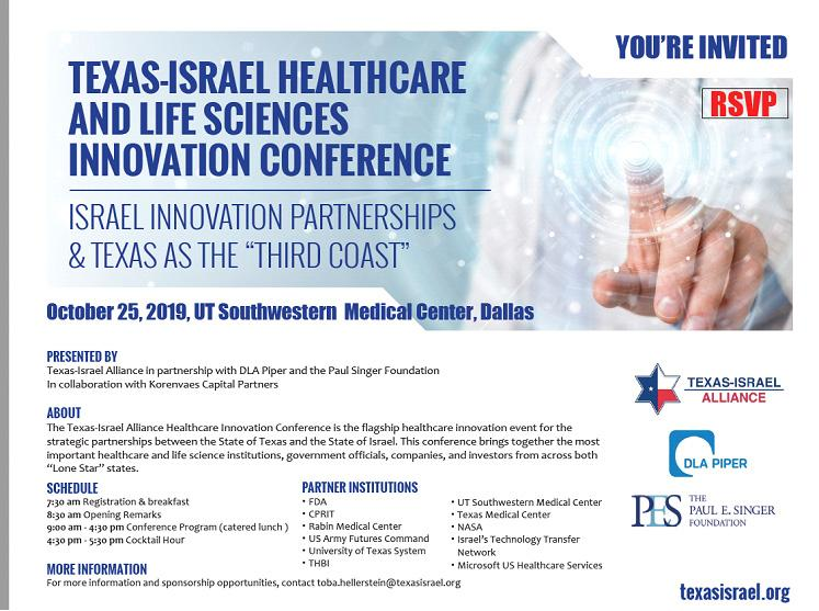 Texas-Israel Healthcare Innovation summit in Texas